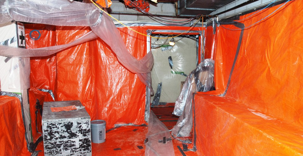 Preparing a room for asbestos removal | Asbestos Removal | Amiante National Asbestos